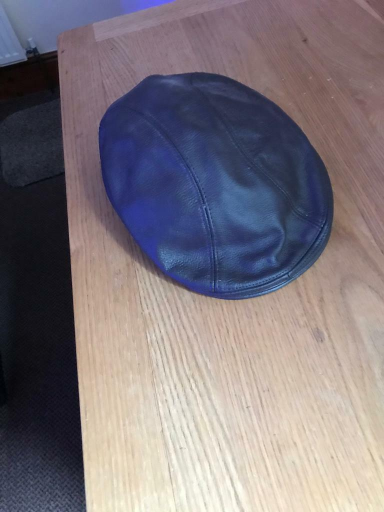 bb8c3b6d63747f for sale real leather flat cap | in Leicester, Leicestershire | Gumtree