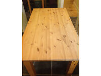 Large solid pine farmhouse kitchen/dining table