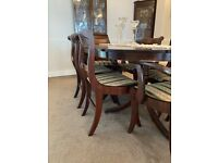 FREE: Mahogany Dining Table with chairs