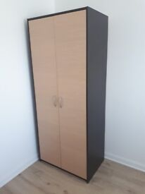 Wardrobe, storage cupboard and standing lamp