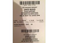 2 jake bugg tickets for kelvingrove bandstand