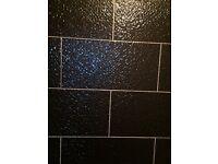 Black tiles monoporosa