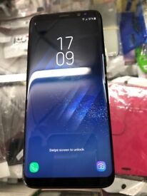 Samsung s8 plus black 64gb unlocked like bran new