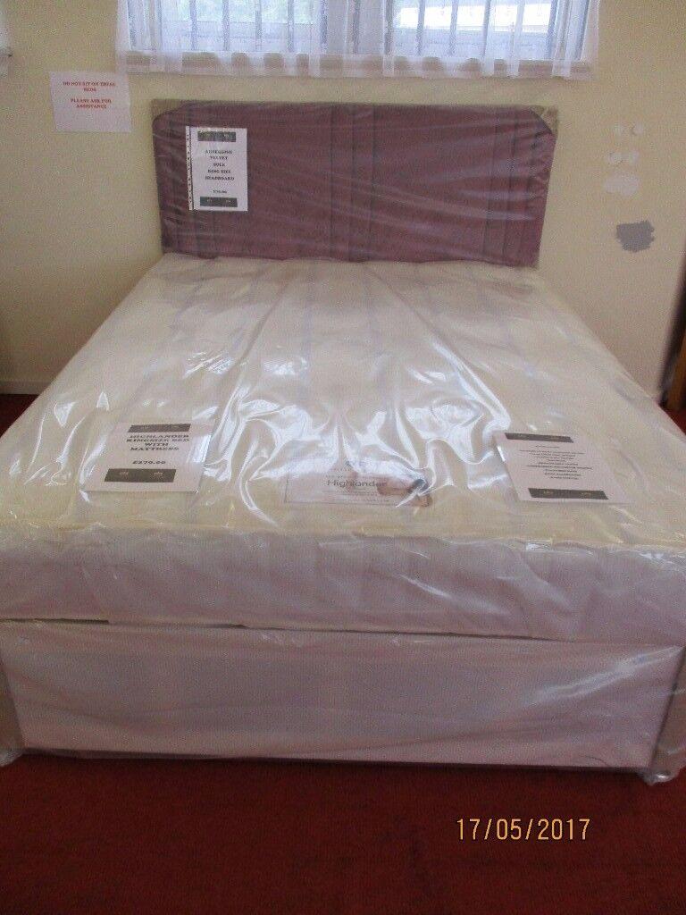 New Myer Adams Highlander King Size Bed.