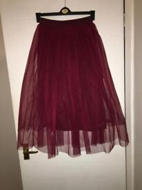 Boohoo boutique tutu skirt size 8