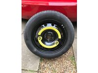 195/55 R15 spare wheel and Continental tyre
