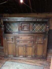Oak court cupboard sideboard