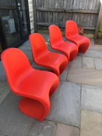 Vitra Verner Panton S chairs x 4