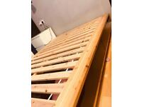 Mandal Ikea double bed and Malfors mattress