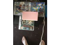 Nintendo ds and 3 games