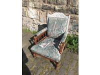 Victorian antique armchair fireside chair FREE DELIVERY