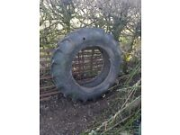 Used Tractor Tyre – Garden planter feature.