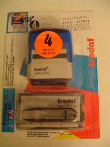 TRODAT MODEL PRINTY 4952 DO-IT-YOURSELF RUBBER STAMP 4 LINE SET Windsor Region Ontario image 4