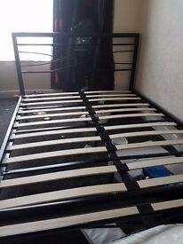 Metal double bed x2