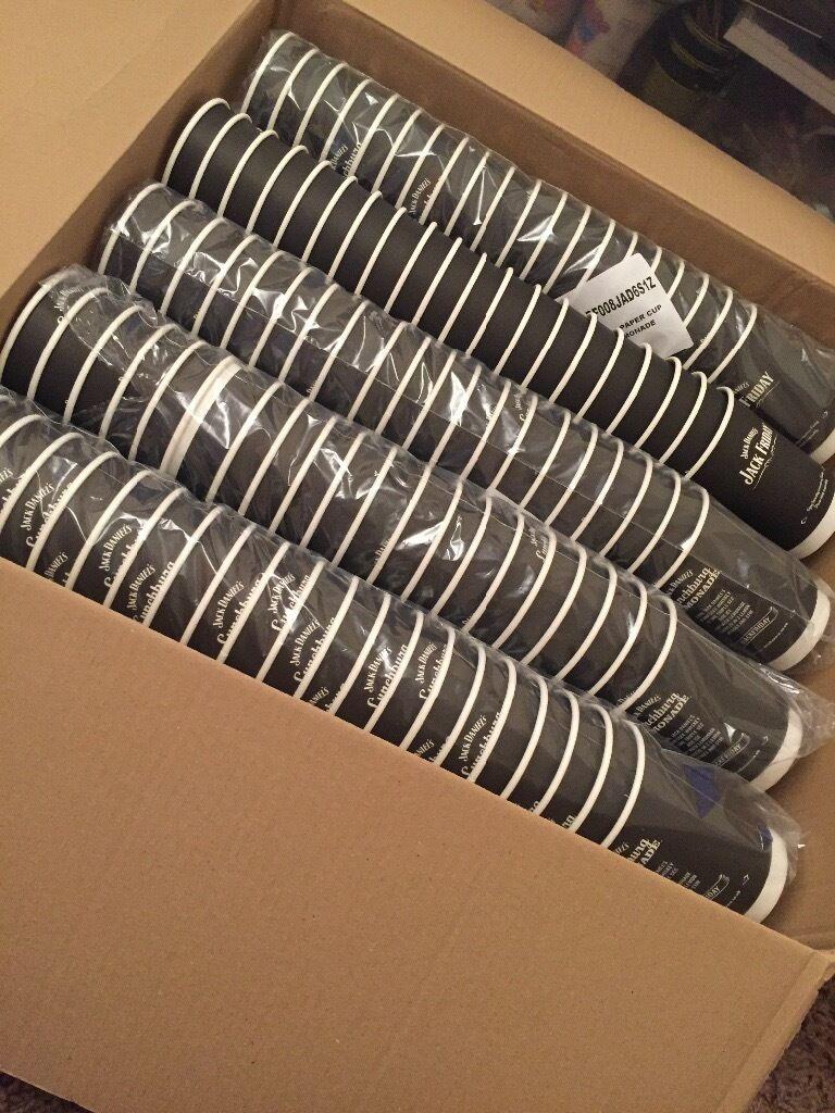 200 Jack daniels Cups. No lids