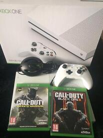 Xbox one s with headset and games