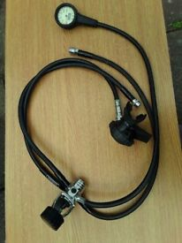 Diving regulator: Sherwood Magnum II, with 3 hoses: drysuit , contents gauge, extra hose; £50