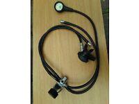 Diving regulator: Sherwood Magnum II, with 3 hoses: drysuit , contents gauge, extra hose; £50