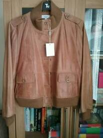 Next real leather bomber jacket bnwt size 20