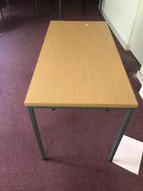 1200 x 600 Table on Steel Frame - Nearly New