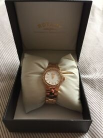 Ladies Rotary Rose Gold watch