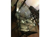 Big glass 8 seater glass table