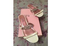 Cream & Diamond style wedding sandals