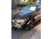 2012 BMW 1 SERIES 118D SPORT DAMAGED REPAIRABLE SPARES OR REPAIR