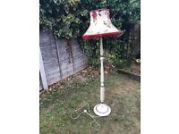 1950's Standard Lamp - All Original - Cream/Brown Coloured