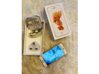 Iphone 6S Rose Gold ** PERFECT CONDITION ** UNLOCKED, boxed with new headphones and charger