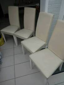 Kitchen chairs leather