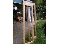 Unfinished door frames