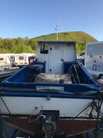 Boat 22 foot grp with inboard Diesel engine.