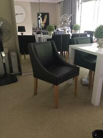 Leather dining chairs x6