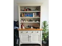 Cream Bookshelf/display cabinet with drawers and cabinets