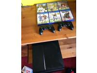 PS4 (500GB) With 2 controllers and 6 games