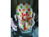 Baby high chair stars design
