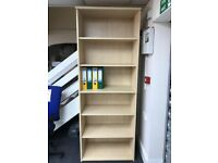 Bookcase, With Fixed Shelves, In Maple. 2140mm Height x 800mm Width x 450mm Depth. 1 In Stock.