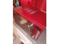 Red Russell hobbs microwave