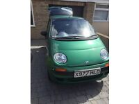 Daewoo Matiz for sale; Great condition, low mileage, cheap to insure