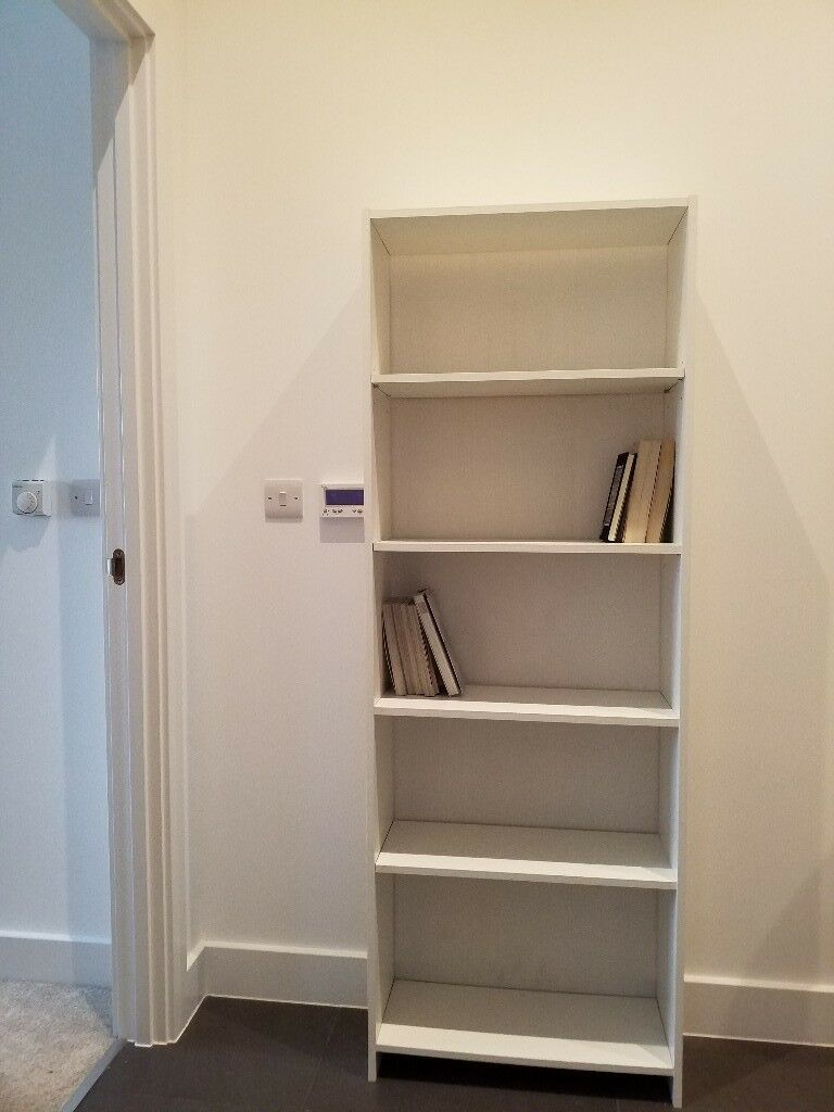 White Tall Bookcase Bookshelf