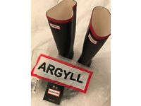 Hunter Argyll Mens wellies size 12 Brand Nee