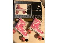 Girl's Quad Roller Skates - Size 4 (38) - Barely worn, perfect condition
