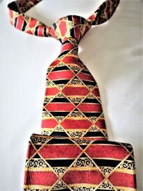 BEAUTIFULLY EXPENSIVE -EXCLUSIVE FRENCH AT THIS BEST -GENUINE –100% SILK TIE – HOUSE OF LANVIN PARIS