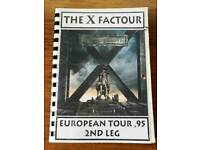 Iron maiden (The X Factour '95) 2nd leg crew and band itinerary. Ultra rare memorabilia.