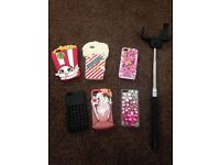 Iphone 5c cases and selfie stick