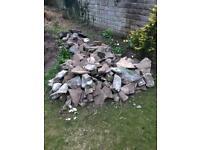 Weathered walling stone