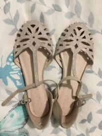 Next Sparkly Shoes Size 2 - £8