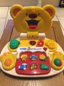 Vtech Teddy Bear Laptop Educational Toy