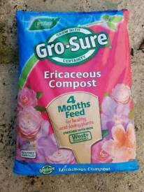 Gro sure Ericaceous 50ltr bag of compost. New. Hurley. Berkshire